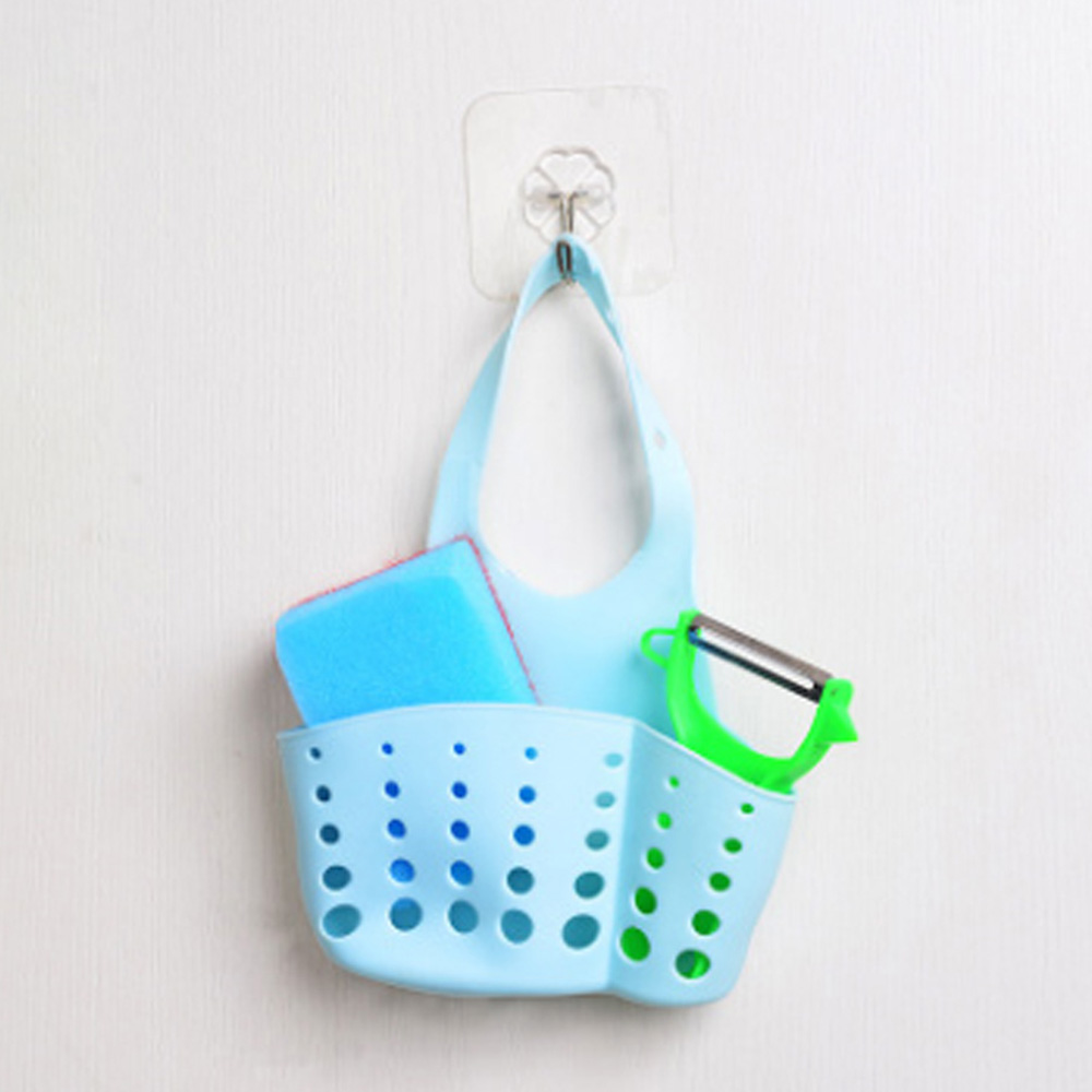 Portable Kitchen Organizer Sink Hangable Storage Basket Faucet ...
