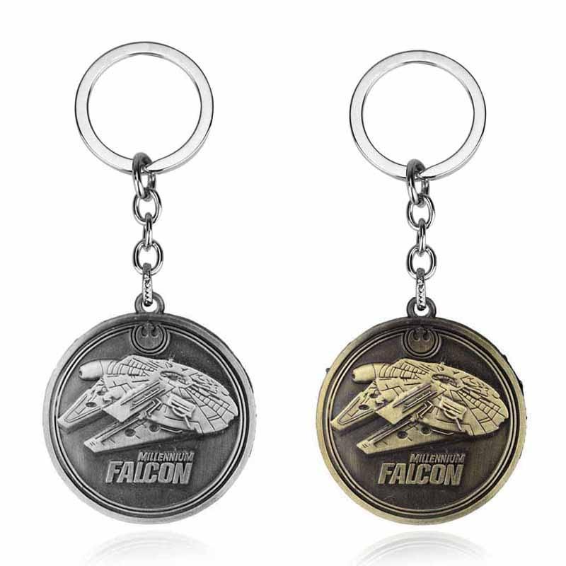 Fashion Star Wars Spaceship Keychain Cool Falcon Keyrings Alloy Pendant Keyring Man Jewelry Accessor