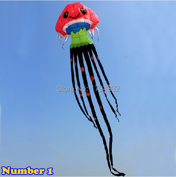 Free Shipping Outdoor Fun Sports 2015 NEW Nylon Cloth  9m Power  Jellyfish Software Kite Good Flying