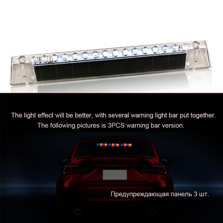 2Pcs Windshield Led Strobe Light Car Flash Signal Emergency Fireman Police Beacon Warning Light Red Blue White signal light