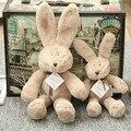 Suave Lindo Kids Conejo de Felpa Muñeca de Juguete Niñas niños Bebé Durmiendo Muñeca Calma Juguetes Niños Dormitorio Ropa de Cama Portátil de Peluche Regalos