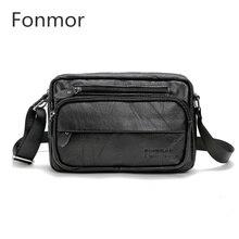 New Brand Fashion Cow Genuine Leather Bag Handbag Casual Men Crossbody Bag Cowhide Leather Small Shoulder Messenger Bag Man Bao