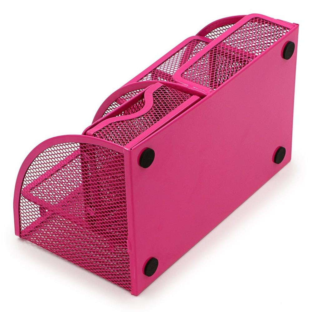 Awesome Us 6 15 23 Off Hot Pink Office Supplies Mesh Desk Organizer Desktop Pencil Holder Accessories Caddy With Drawer 7 Compartments In Stationery Holder Home Interior And Landscaping Sapresignezvosmurscom