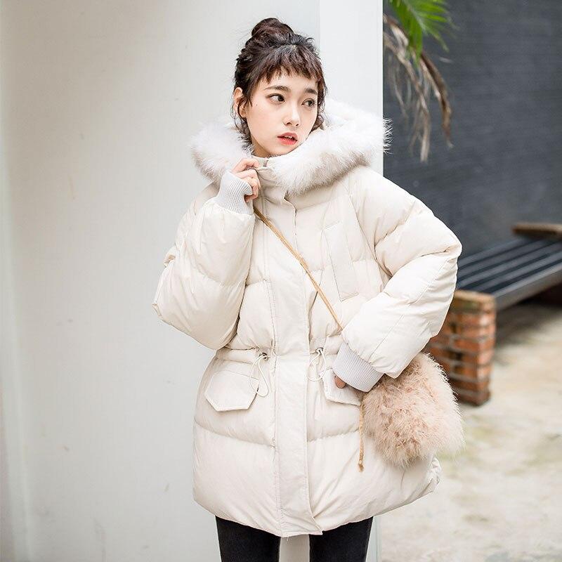 冬の綿のジャケット女性新パーカー綿セクション大毛皮の襟の綿女性韓国の冬のジャケット  グループ上の レディース衣服 からの パーカー の中 1