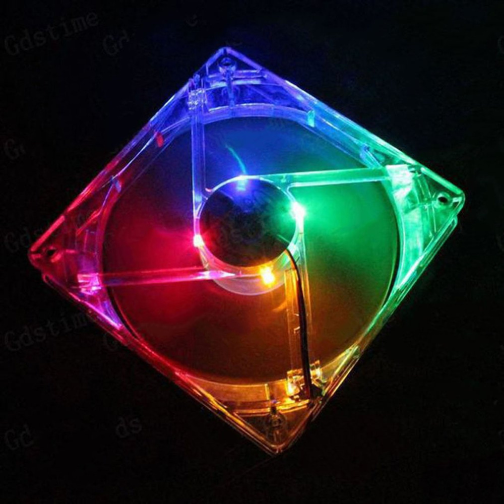 120mm pc computer fan 4 LED Light 12CM Fan PC CPU Cooling <font><b>Cooler</b></font> Fan for Computer Case CPU <font><b>Cooler</b></font> Radiator Computer Accessories image