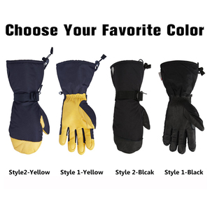 Image 2 - OZERO Winter Ski Skiing Gloves Snowboard Snowmobile Motorcycle Riding 3M Sports Windproof Waterproof Warm Gloves For Mens Woman