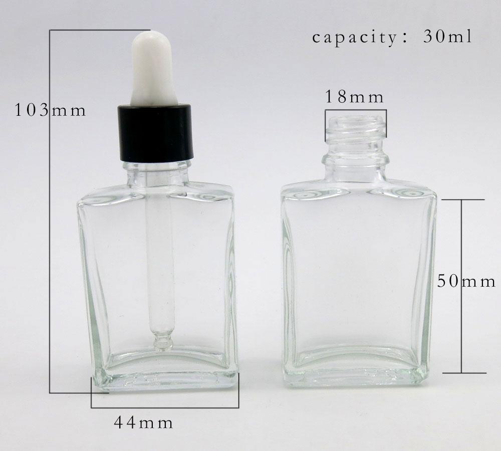 30ml prazne prozirne staklene boce kapaljke za oči aromaterapija - Alat za njegu kože - Foto 5