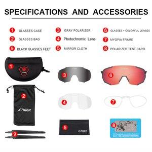 Image 2 - X TIGER Photochromic Polarized Cycling Glasses Outdoor Sports MTB Bicycle Bike Sunglasses Goggles Bike Eyewear Myopia Frame