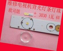 200 ชิ้น/ล็อตสำหรับซ่อม LCD TV LED หลอดไฟ SMD Led 1 วัตต์ 3030 6 โวลต์แสงสีขาวเย็น emitting diode
