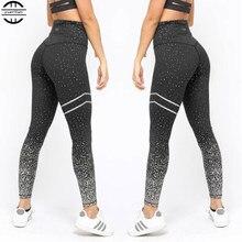 9f76e237d79bd 2019 Sexy Fitness Sport leggings de yoga de Course leggings de gym Femmes  Taille Haute Collants