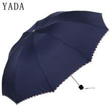 YADA Solid Color Large Creative Design Folding Rainy Business Umbrella Anti-UV Rainproof Sun Protection Parasol YD044