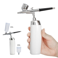 Wireless Airbrush Kit With Rechargeable Airbrush Compressor Big Capacity Ink Cup Spray Pen For Nail art,Face Paint,Cake Coloring