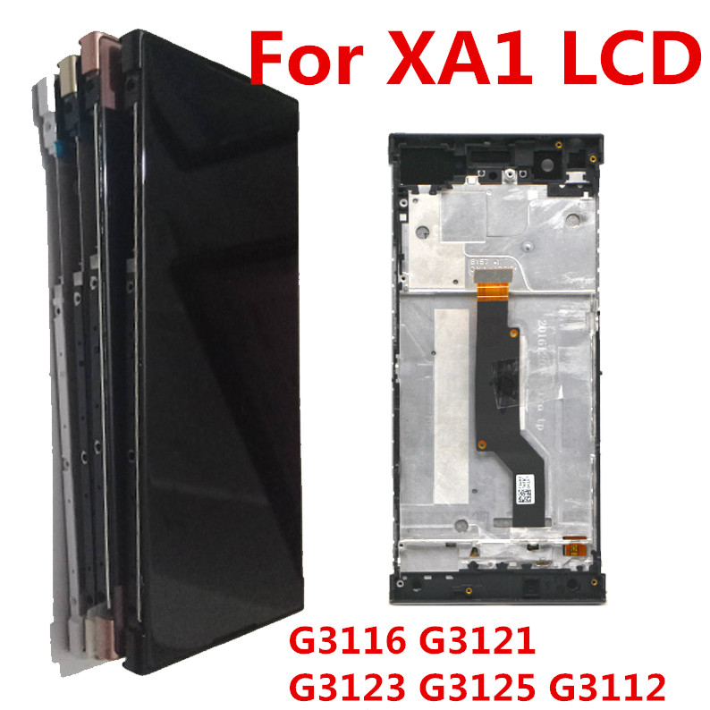 Display For SONY Xperia XA1 LCD Touch Screen With Frame For SONY Xperia XA1 Screen Replacement LCD G3112 G3116 G3121