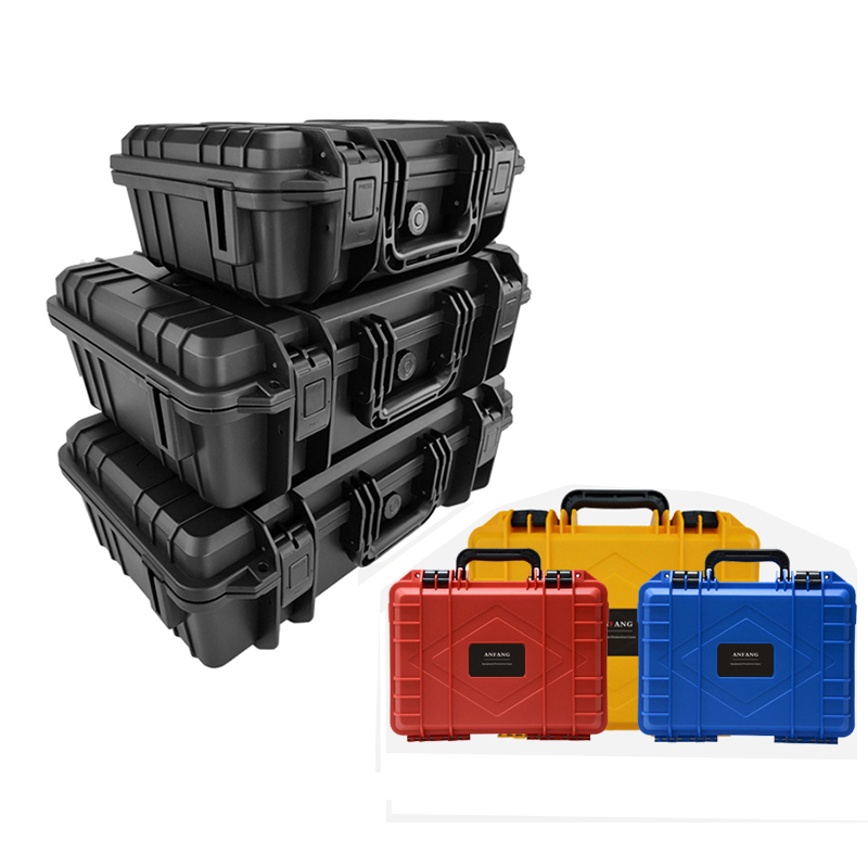 ABS Plastic Sealed Tool Box Safety Equipment Toolbox Impact Resistant Tool Case Shockproof Suitcase With Foam Black Color