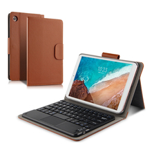 Local Language Bluetooth Keyboard Case For XIAOMI MI4 Plus 10.1 Tablet PU Leather Cover Stand Case Tablet wireless stand universal wireless bluetooth keyboard case for 12inch tablet for asus lenovo huawei acer 12 tablet leather stand cover pen