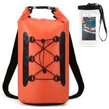Sac sec étanche de 15l, sac pour téléphone portable étanche pour natation, Rafting, kayak, Trekking flottant, plongée, bateau