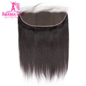 Amanda Malaysian Straight Lace Frontal Closure 13x4 Natural Color 100% Remy Human Hair Ear To Ear Lace Closure Free Shipping