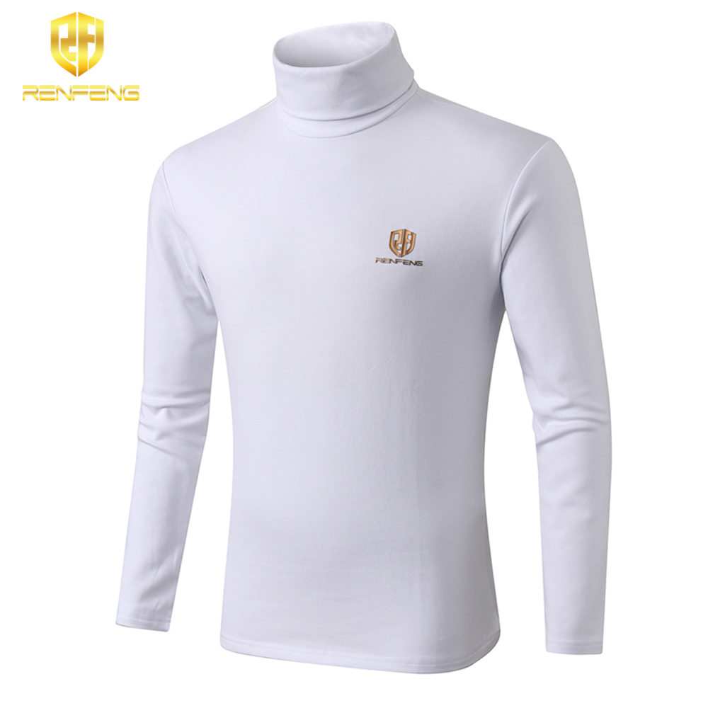 winter underwear for mens undershirts 95% cotton long sleeve brand t shirts turtleneck Warm shirt renfeng logo thermo shirt mens (7)