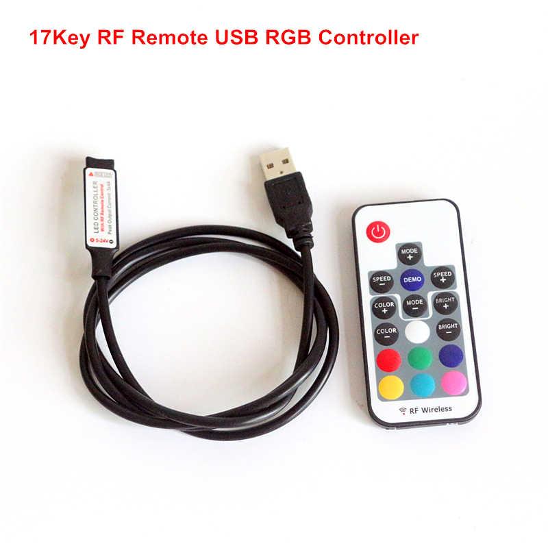 DC 5 ~ 24 V 12A kontroler USB pilot bezprzewodowy rf ściemniacz mini 3 klawisze 17/24/44 klucze do 5050 /2835/3528 taśmy LED RGB światła