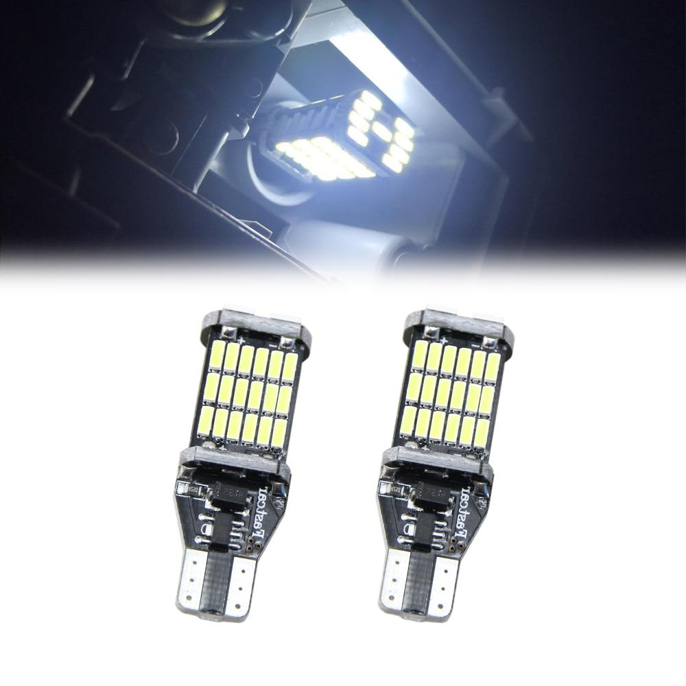 2pcs t15 w16w led reverse light bulbs 920 921 912 canbus. Black Bedroom Furniture Sets. Home Design Ideas