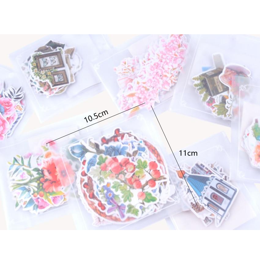 Купить с кэшбэком 15pcs/lot Lovely My Flower World Series Decoration Stickers DIY Planner Scarpbooking sealing Label Sticker Children Stationery