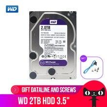 Western Digital 2 ТБ WD Purple 2 ТБ HDD для наблюдения 64 Мб SATA 6 Gb/s1 3,5 «Внутренний жесткий диск для видеокамера сетевой видеорегистратор WD20EJRX
