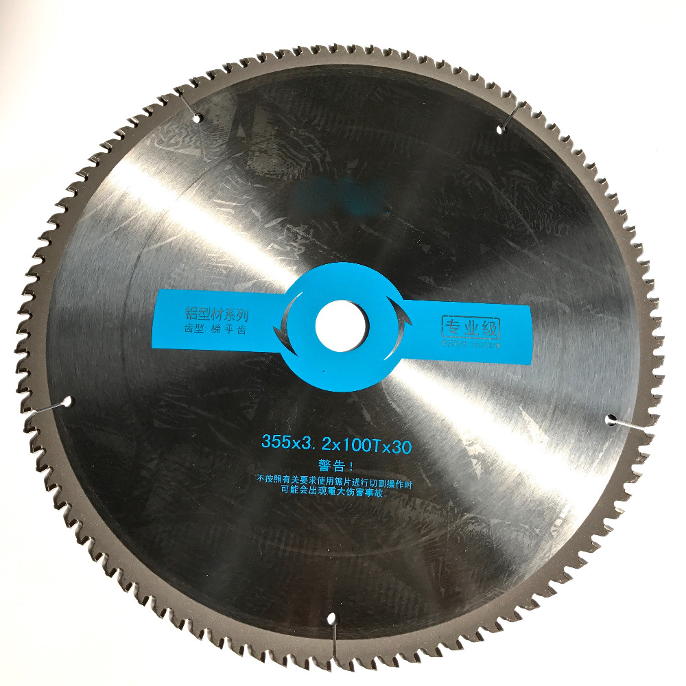 Free shipping 1PC Professional quality 355*30*3.2*100T TCG teeth TCT saw blade Non ferrous metal aluminum copper cutting blades alpina startimer al 372b4fbs6
