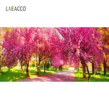 Laeacco Trees Flower Sunshine Spring Baby Portrait Photography Backgrounds Customized Photographic Backdrops For Photo Studio photography backdrops white clouds green grass backdrops newborn purple flower trees sunshine digital studio background