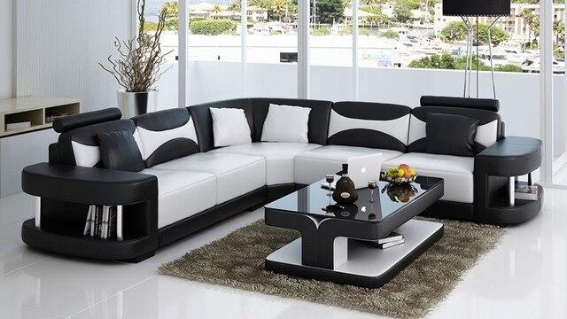 1583 93 Sofa Seccional De 2017 Veces Limitado Sofas Modernos Para Sala De Estar Beanbag Chaise Nuevo Diseno Italiano En Forma De L De Cuero De