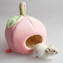 Cute Hammock for Rats Nest Warm Winter Mini Animal Fruit-shaped Rat Hamster Pendant Home Cage The Gray Pet Tools