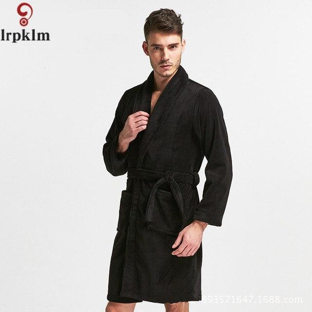 Pajamas Men Velvet Long-sleeve Knitted Cotton Sleep Spring And Autumn Mens  Pyjamas Lounge Men Pajama Robes L-XXL SY693 18580ac3a