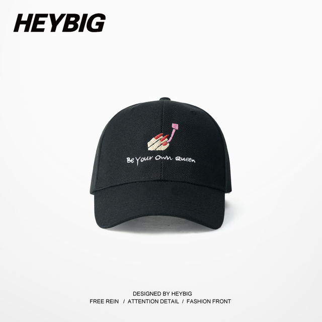 Be your own Quene, gift to girlfriend, baseball caps Hiphop Youth Fashion Doing Nail Beauty Anime Embroidery HEYBIG fun Gorras