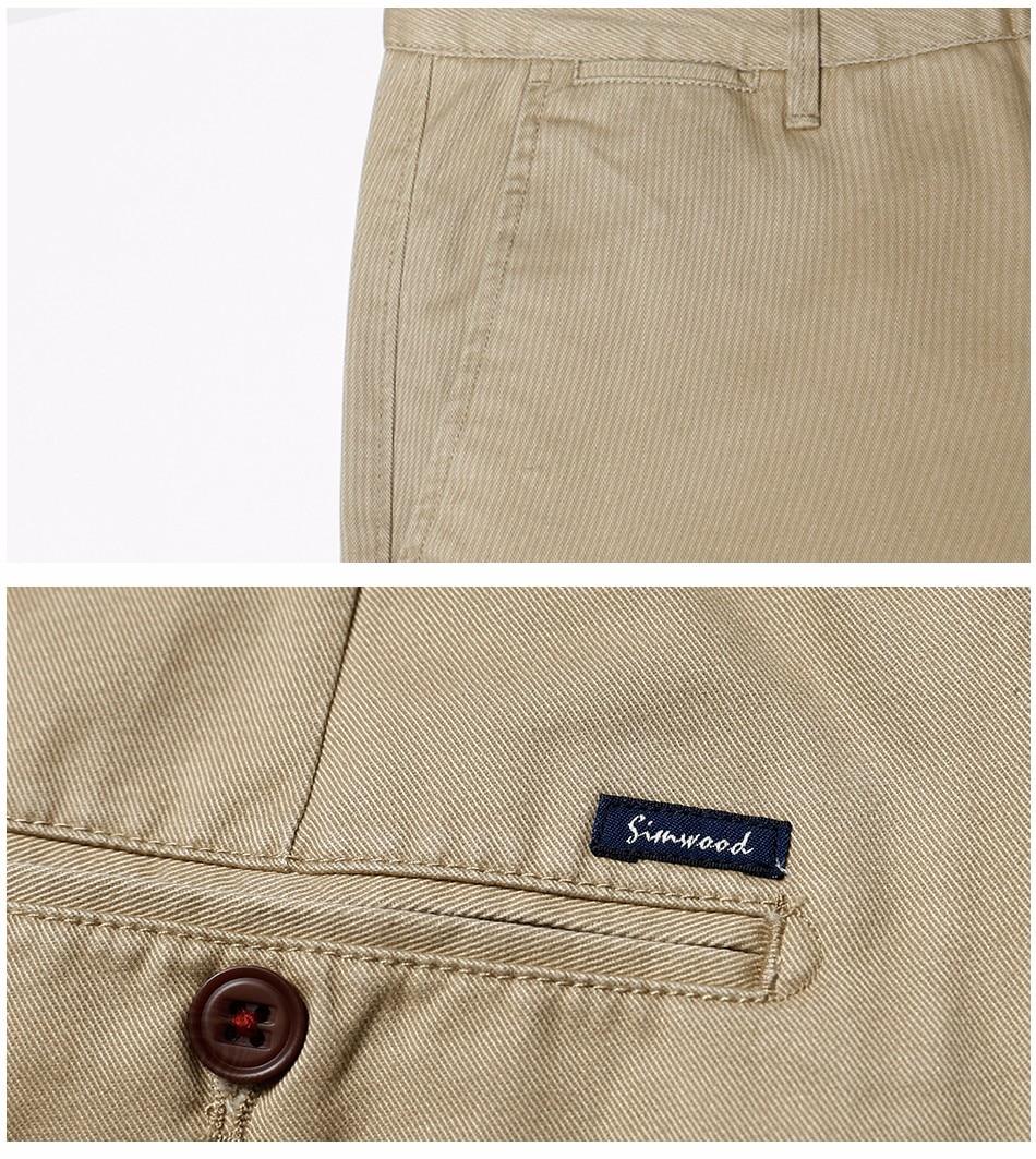 HTB1wg.ZXh2rK1RkSnhJq6ykdpXan Simwood Brand Autumn Winter New Fashion 2019 Slim Straight Men Casual Pants 100% Pure Cotton Man Trousers Plus Size KX6033
