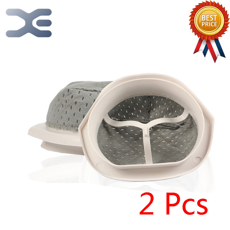 2Pcs For Midea Household Hand-Held Vacuum Cleaner Accessories QB80D QB-80D Dust Cup Bag Filter