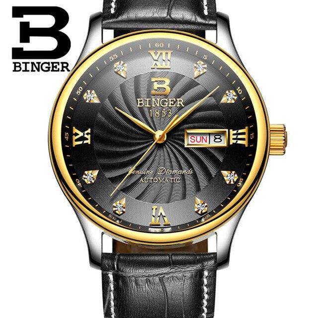 Moda BINGER Marca Cronógrafo Reloj de Cuarzo de Moda Para Los Hombres  Deportes Relojes Correa de 8dd59b7deb16