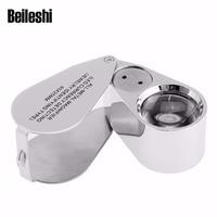 Beileshi 45x Zoom Microscope Magnifier 2 LED UV Light Jewelery Loupe Coin Stamp Watch MG9890