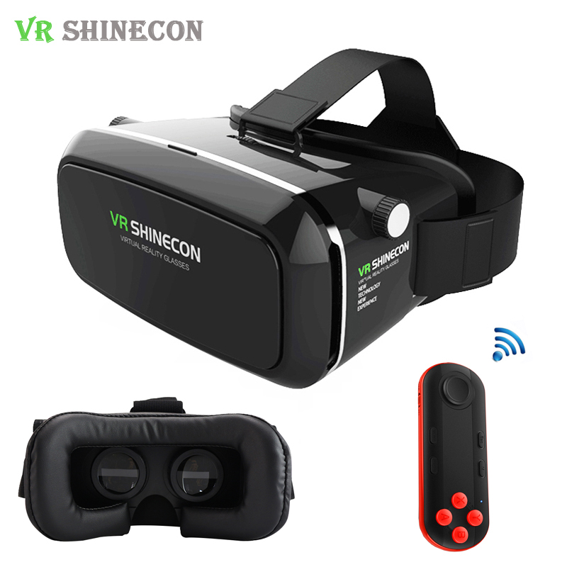 caf187daaa88 Leather VR Shinecon Pro 3D Virtual Reality Glasses 360 Viewing Goggles  Cardboard VRBOX Headset Smartphone Helmet For 4-6  Phone