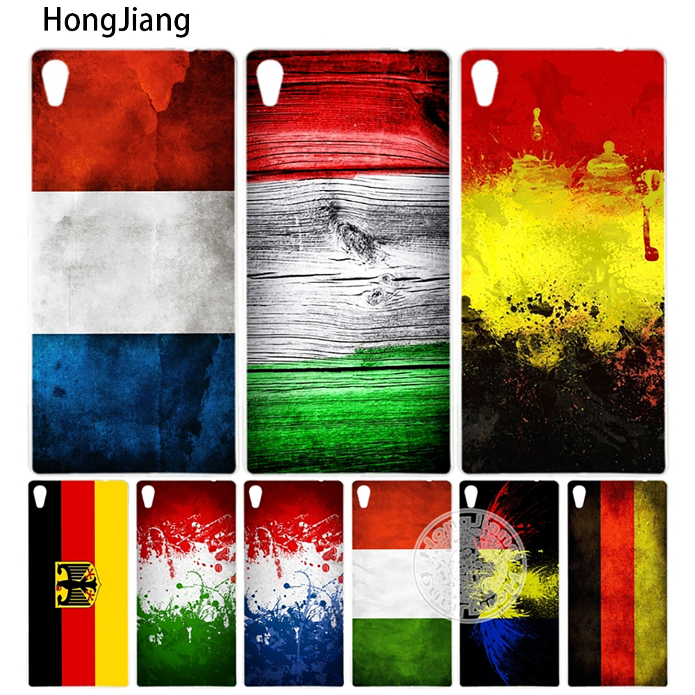 Hongjiang Германия Италия Франция Румыния Флаг крышка телефона чехол для Sony Xperia C6 xa1 XA Ultra x XP L1 X Compact XR/XZ/XZS Премиум