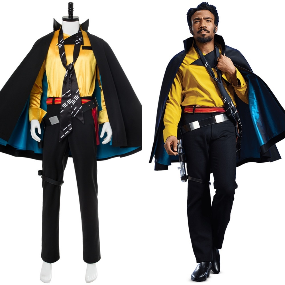 Solo: A Star Wars Story Lando Calrissian Cosplay Costume Cape Suit