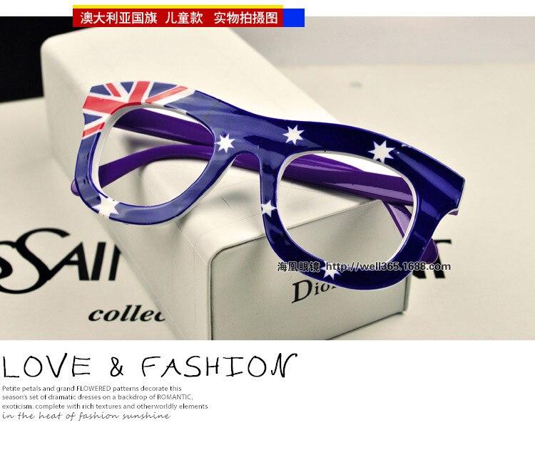 Marke kind brillen rahmen ohne objektiv flagge drucken Amerika ...