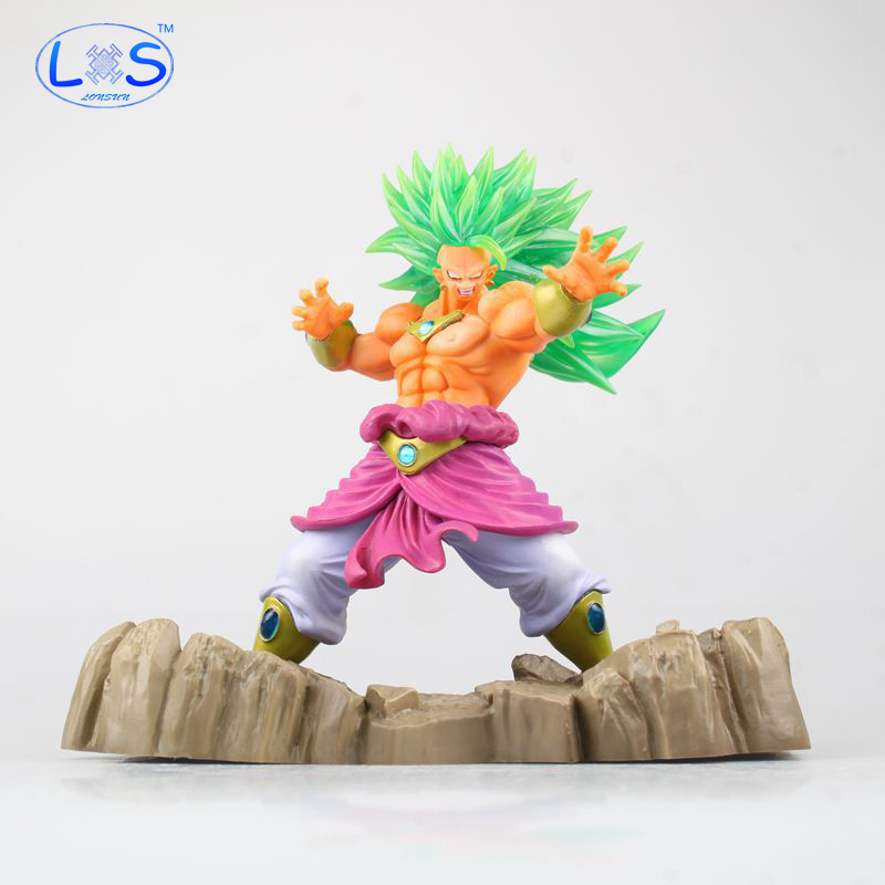 (LONSUN)Dragon Ball Z Action Figure Model Collectible Toy Super Saiyan Broli Doll PVC Figures Toy brinquedos 17cm shfiguarts dragon ball z vegeta pvc action figure collectible model toy 6 5 16cm