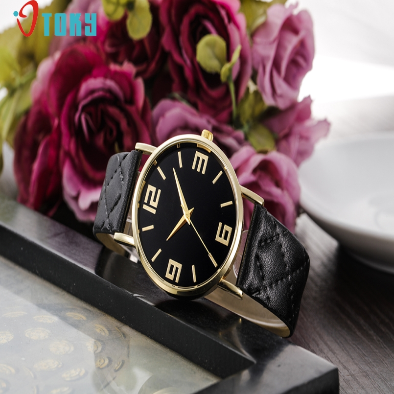 Excellent Quality OTOKY Watch 2017 Relogio Feminino watch Men Women Top Brand Luxury Watches PU Leather Military Time Clock