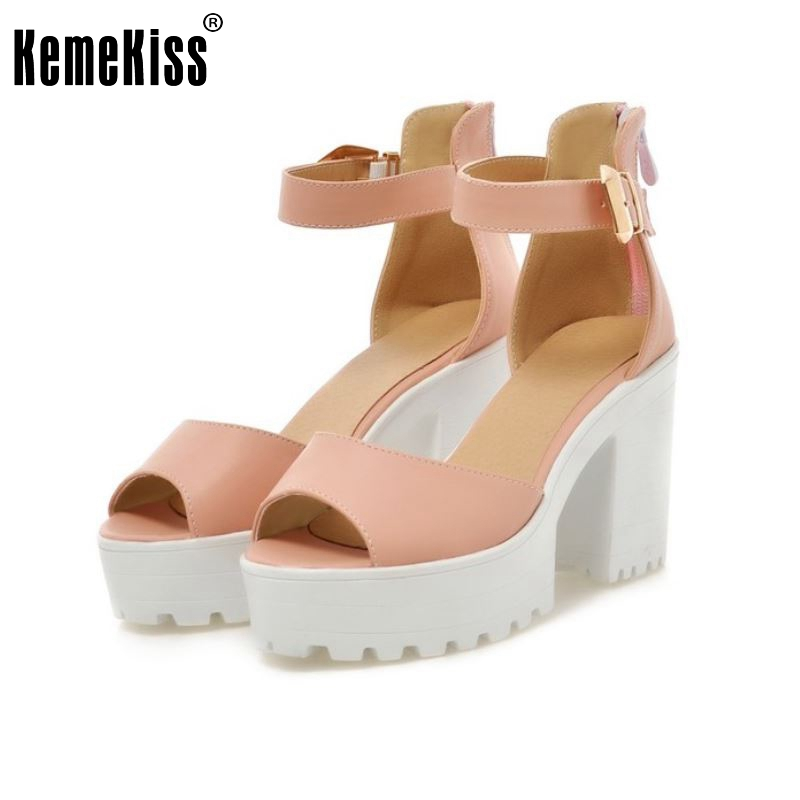 New Arrival Summer Shoes Wrap Open Toe Fashion Women Ankle Strap Sandals Thick Heel Platform Women Sandals Size 34-43 PA00776 ankle strap wedge heel shoes for women comfort open toe shoes girls sandals 2016 new summer