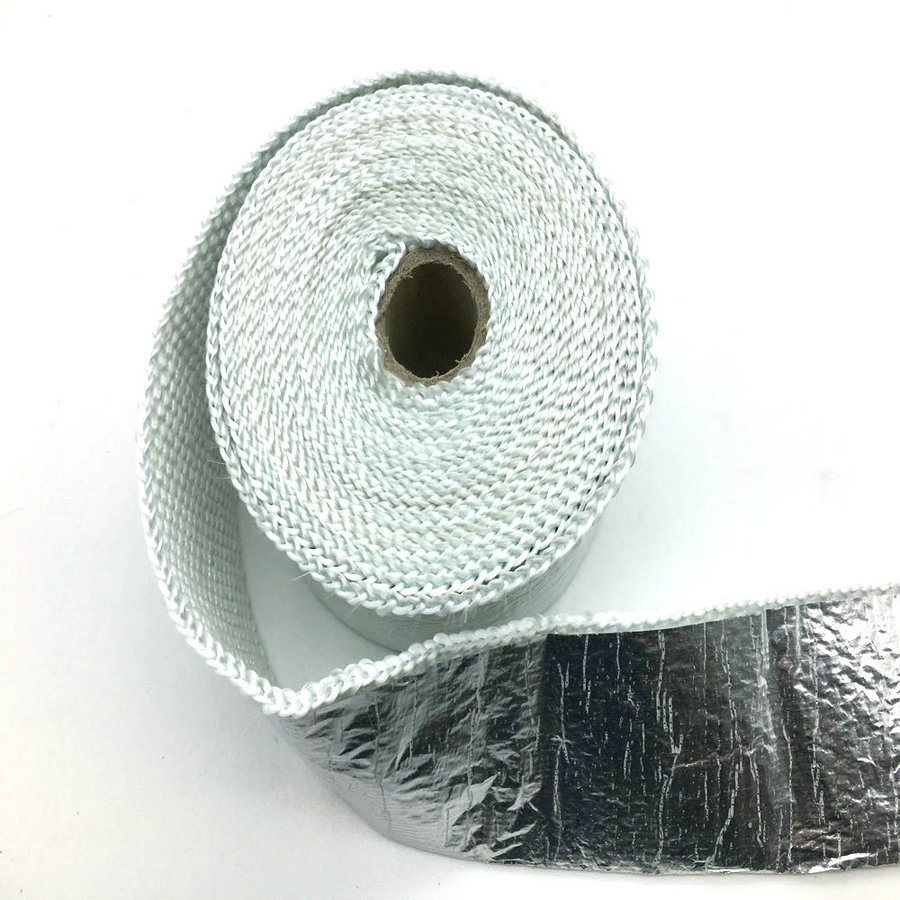 2inch* 15m Cable Stainless Aluminum Foil Fiberglass Exhaust Wrap For Motor Muffler Pipe Header Heat Resistant 10 pcs Cable Ties