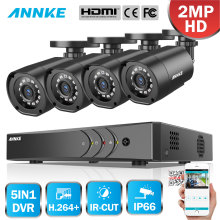 ANNKE 4CH 1080P HD CCTV System 1080P DVR with 2MP IR Outdoor Security Camera 4 channels Home Video Surveillance Kit Email Alert