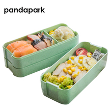5 Colors 900ml PP Three Layer Food Storage Container Microwave Oven Lunch Bento Boxes Dinnerware Lunchbox BPA Free PPX002
