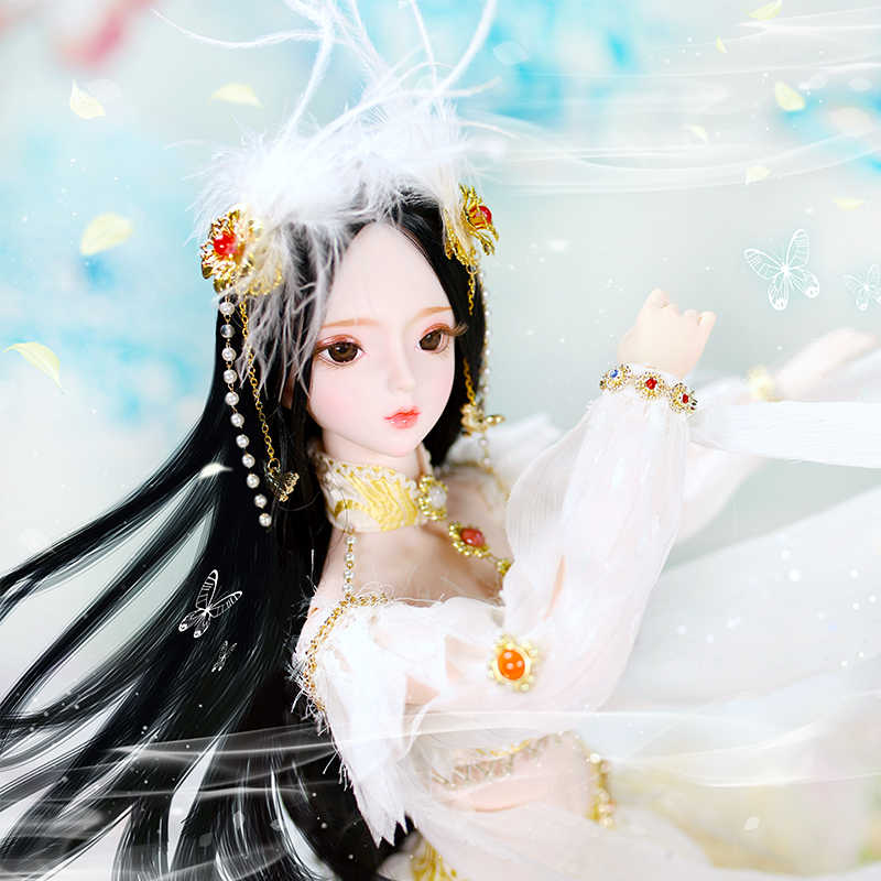 Dbs boneca 1/3 bjd macchiato chengminglan 12 chinês zodíaco mecânico conjunta corpo cabelo olhos roupas 62cm altura meninas sd