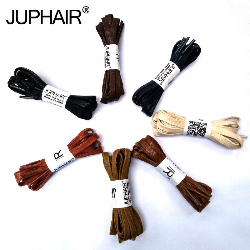 JUP1-12 Pair Red Brown Flat Waxed Dress Canvas Shoelaces Sneakers Boots Shoelace Unisex String Colors Shoes Laces High Quality
