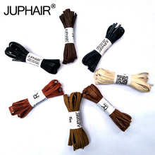 JUP1-12 Pair Red Brown Flat Waxed Dress Canvas Shoelaces Sneakers Boots Shoelace Unisex String Colors Shoes Laces High Quality недорого