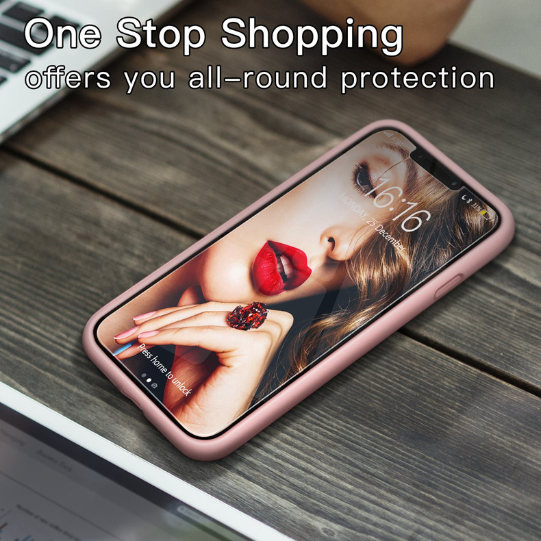 Image 5 - Original Silicone Case For iPhone X XR XS Max Luxury Candy Color Silicon Cover For iPhone 7 8 Plus 6 6S Plus Funda Coque Capas-in Fitted Cases from Cellphones & Telecommunications